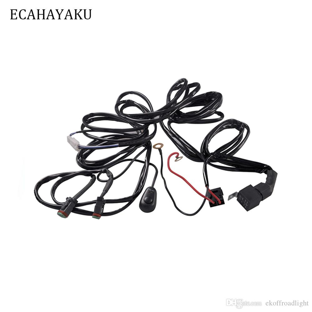 hight resolution of 2019 ecahayaku 3 meters car fog lights relay harness relay wire harness wiring 40a led lamp and halogen lamp fog lights connector atv from ekoffroadlight