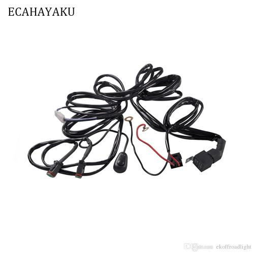 small resolution of 2019 ecahayaku 3 meters car fog lights relay harness relay wire harness wiring 40a led lamp and halogen lamp fog lights connector atv from ekoffroadlight