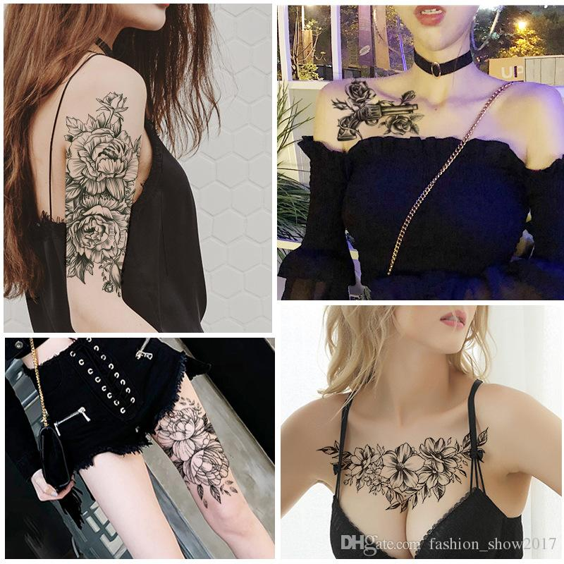 Pequeño Brazo Lleno De Flores Tatuaje Temporal Pegatinas