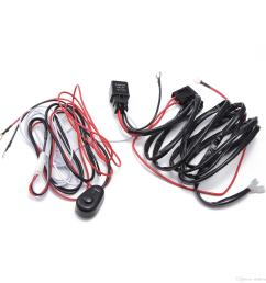 2019 ecahayaku car led light bar wire 2m 12v 24v 40a wiring harness relay loom cable kit fuse for auto driving off road led work lamp from ekoffroadlight  [ 2000 x 2000 Pixel ]