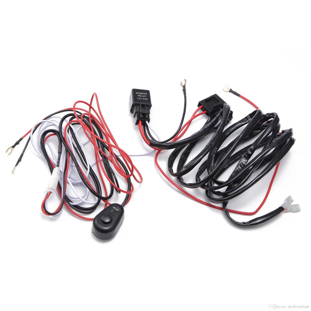 medium resolution of 2019 ecahayaku car led light bar wire 2m 12v 24v 40a wiring harness relay loom cable kit fuse for auto driving off road led work lamp from ekoffroadlight