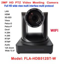 2mp 1080p video conferencing rj45 ip stream ptz wireless camera 12x optical zoom 60fps with hdmi 3g sdi outputs security surveillance cameras security  [ 1000 x 1000 Pixel ]