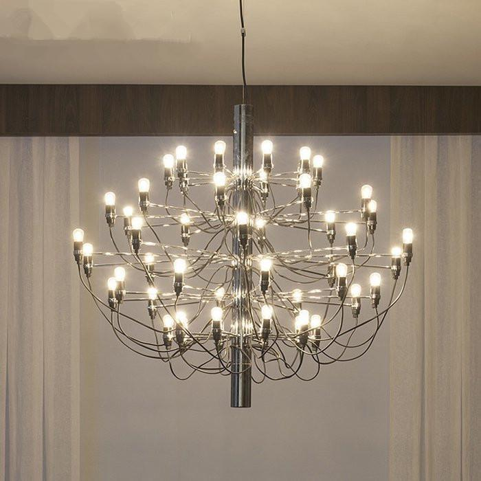 hanging light fixtures living room small renovation ideas nordic chrome gold led ceiling chandeliers 18 30 bulbs pendant lamp luminaire home lighting kitchen lights island