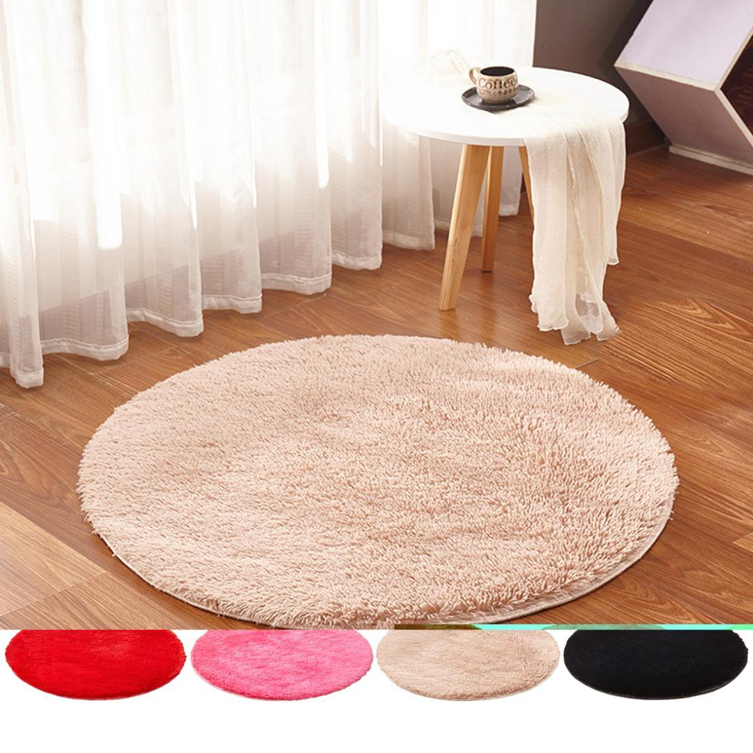 round area rug in living room pink accessories soft shaggy fluffy carpet for kilim faux fur kids long plush rugs bedroom industrial style carpets n