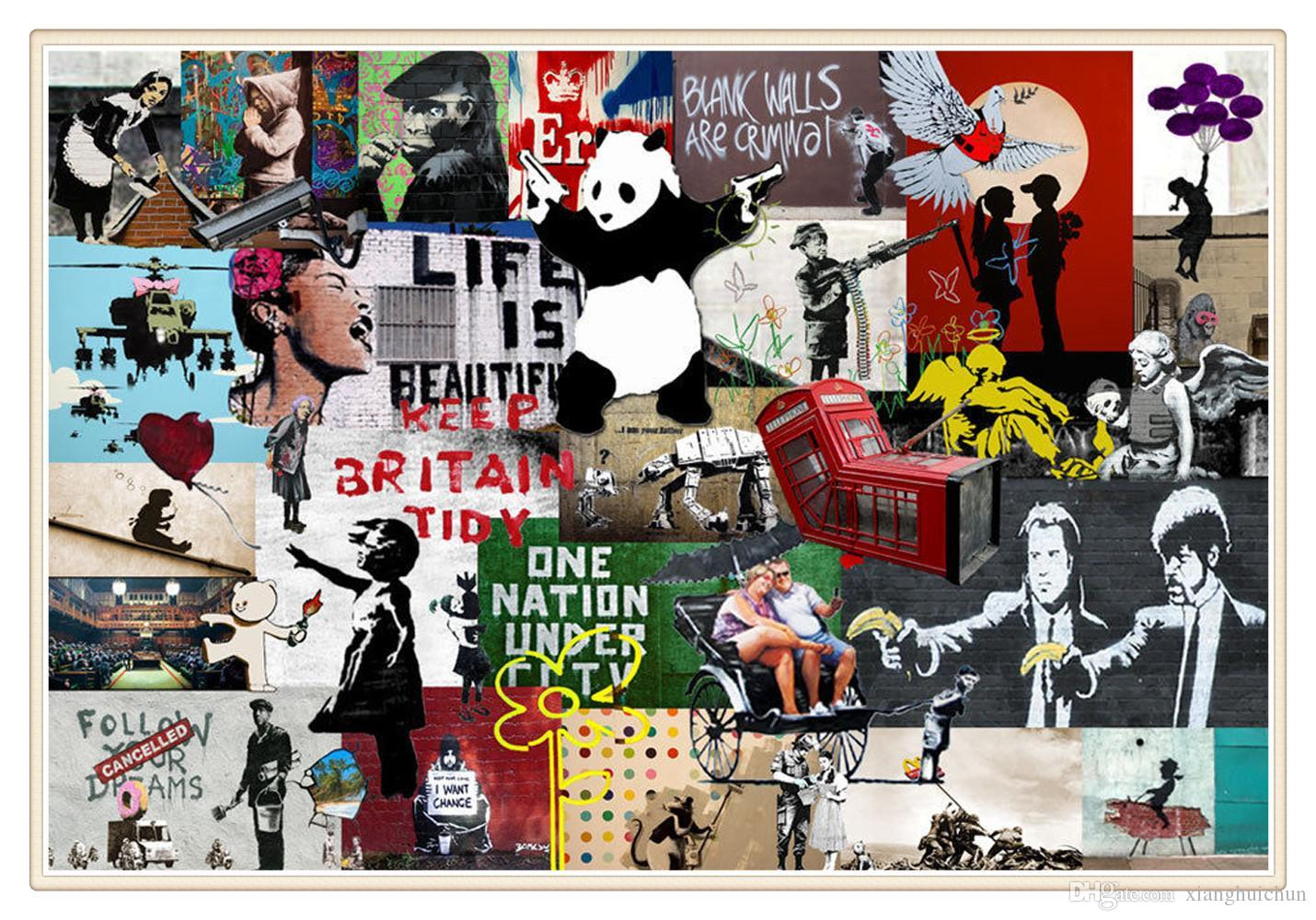 banksy collage montage new