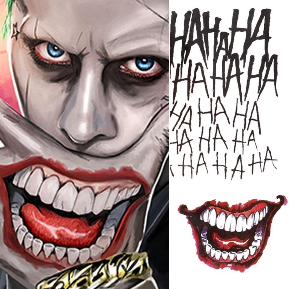 4 Estilos Cosplay De Halloween El Joker Pegatinas De Tatuajes