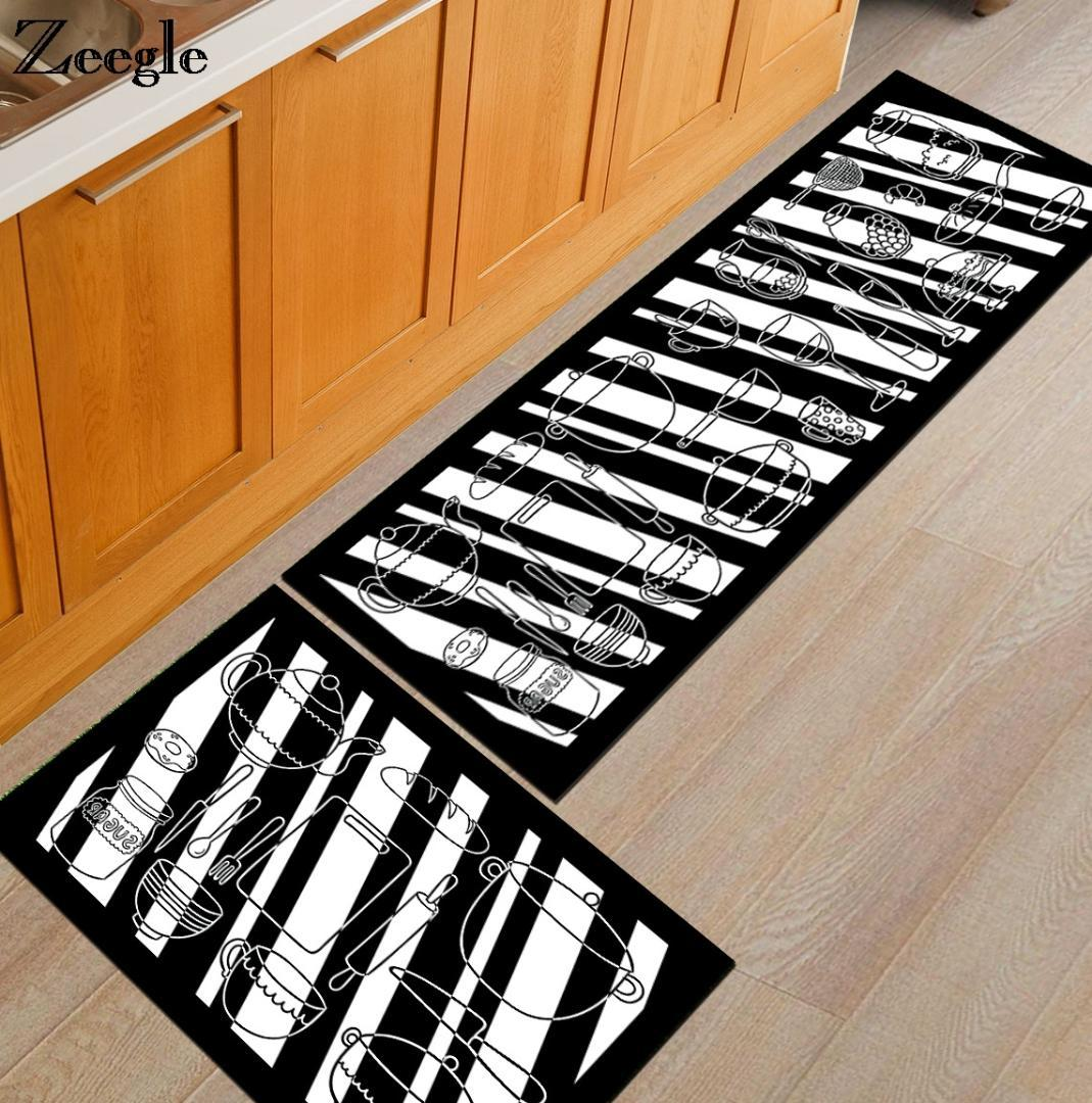 kitchen carpet home depot refacing zeegle cooking utensil printed rugs anti slip coffee table floor mats dinging room area rug white texture mohawk