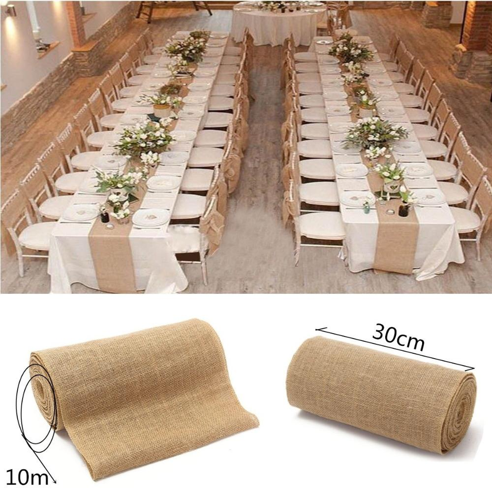 fashion burlap table runner