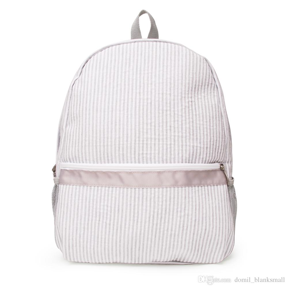 wholesale blanks seersucker backpack