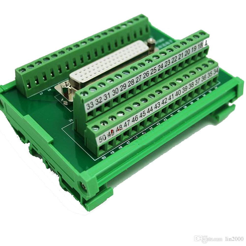 hight resolution of 2019 db50 female socket d sub terminal block breakout board adapter cable wiring terminal din rail type from lin2000 67 34 dhgate com