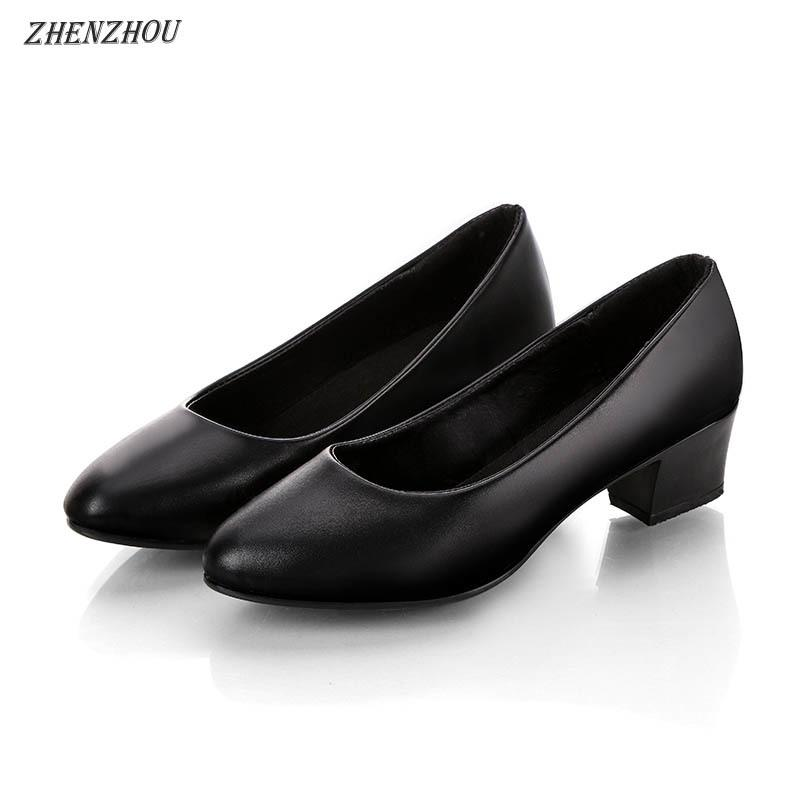 Black Leather Non Skid Shoes