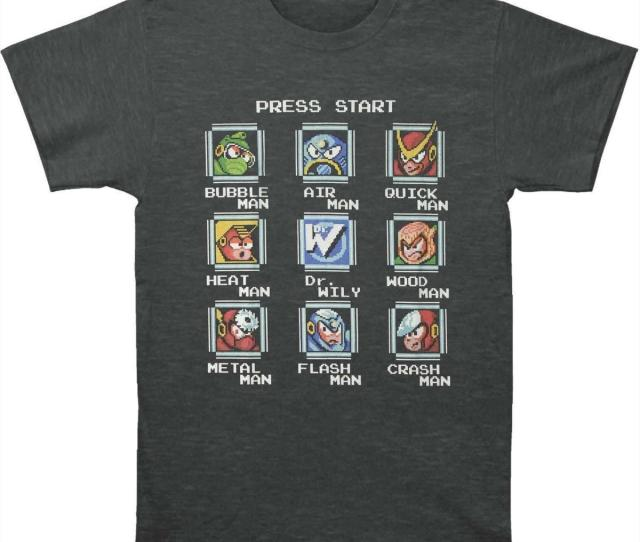 Mega Man Mens Stage Select T Shirt Xxxxx Large Heather Funny Screen Tees Shirts With Design From Yubin Dhgate Com