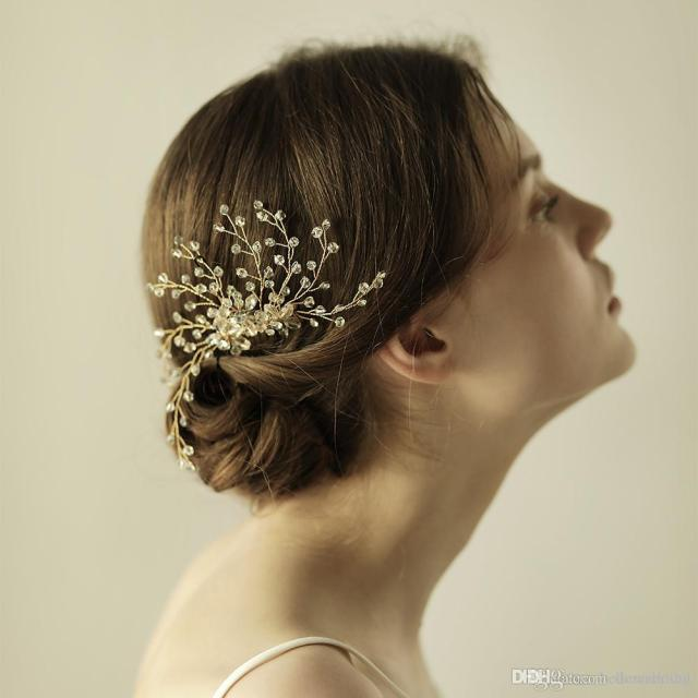2018 new wedding hair accessories bridal hair comb with crystals women hair jewelry party headpieces #bw-hp834