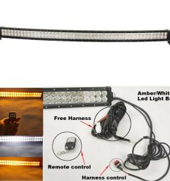 curved 288w 50inch white amber led light bar led foglights for off road jeep truck utv 4x4 remote control wiring harness kit led work light manufacturers  [ 1000 x 1000 Pixel ]