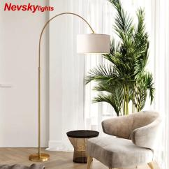 Standing Lights For Living Room Wall Ideas With Mirrors 2019 Nevsky American Led Floor Lamp Copper Modern White Bedside Reading Gray Stand Lighting From Caraa