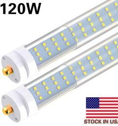8 25pcs t8 t12 led tube light 120w 6000k clear cover 96 3 row led single pin fa8 base 8ft led replacement for 8 foot fluorescent fixtures [ 1500 x 1500 Pixel ]