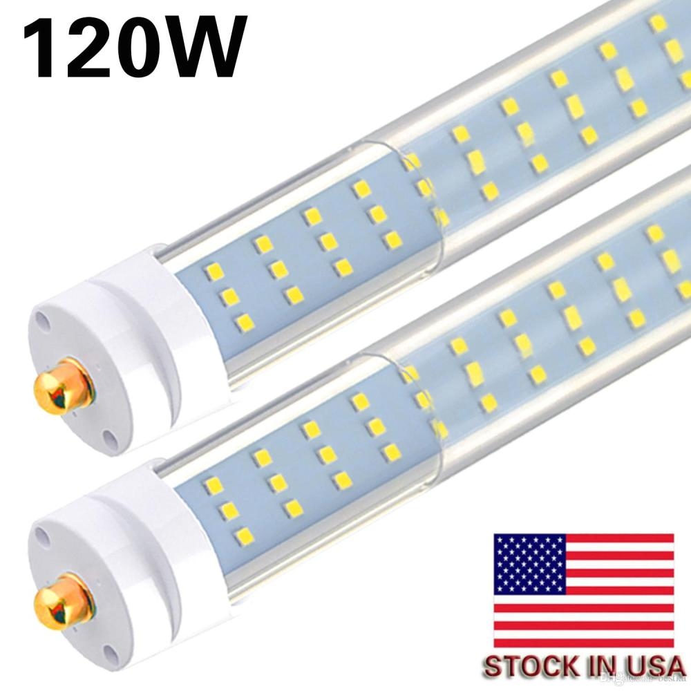 medium resolution of 8 25pcs t8 t12 led tube light 120w 6000k clear cover 96 3 row led single pin fa8 base 8ft led replacement for 8 foot fluorescent fixtures