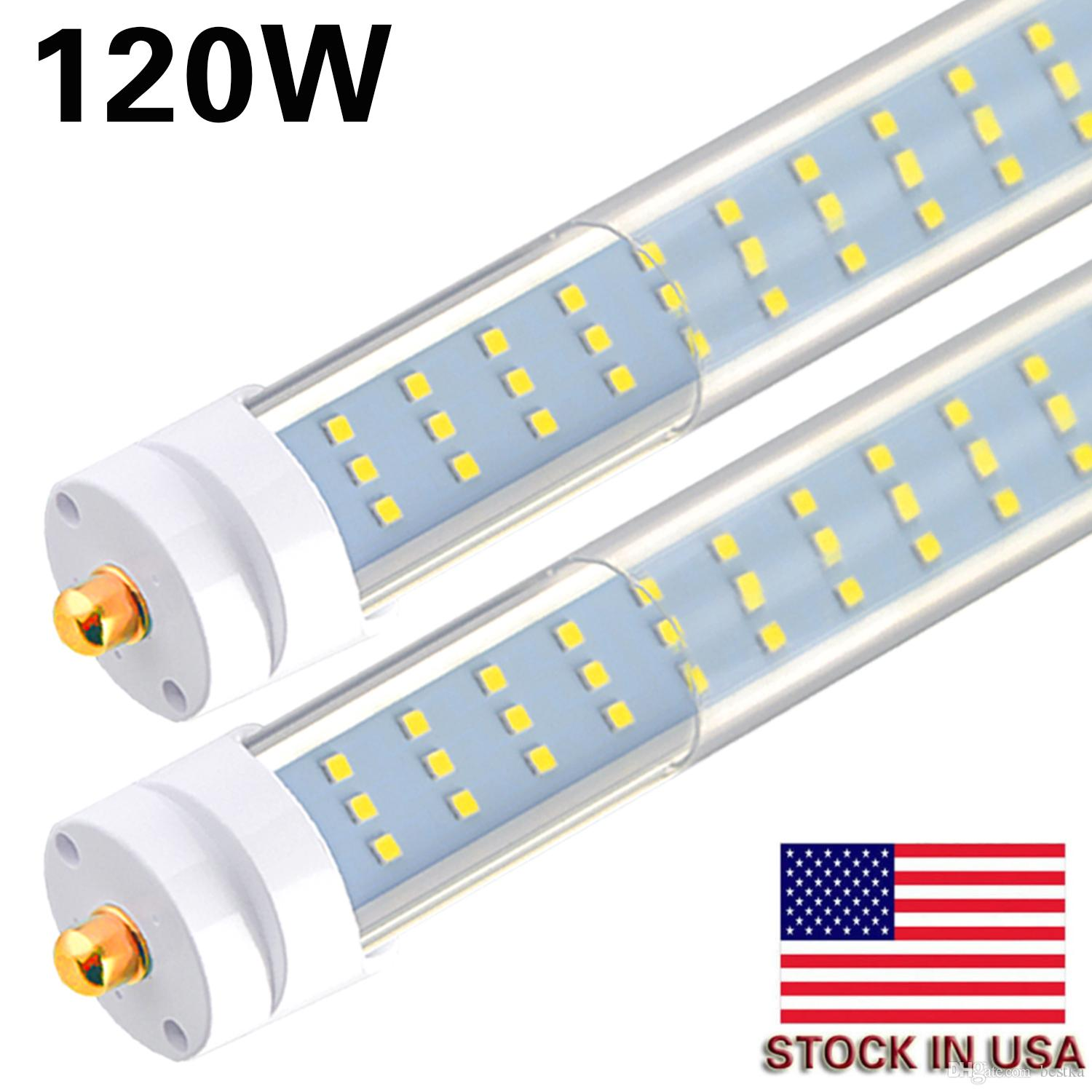 hight resolution of 8 25pcs t8 t12 led tube light 120w 6000k clear cover 96 3 row led single pin fa8 base 8ft led replacement for 8 foot fluorescent fixtures