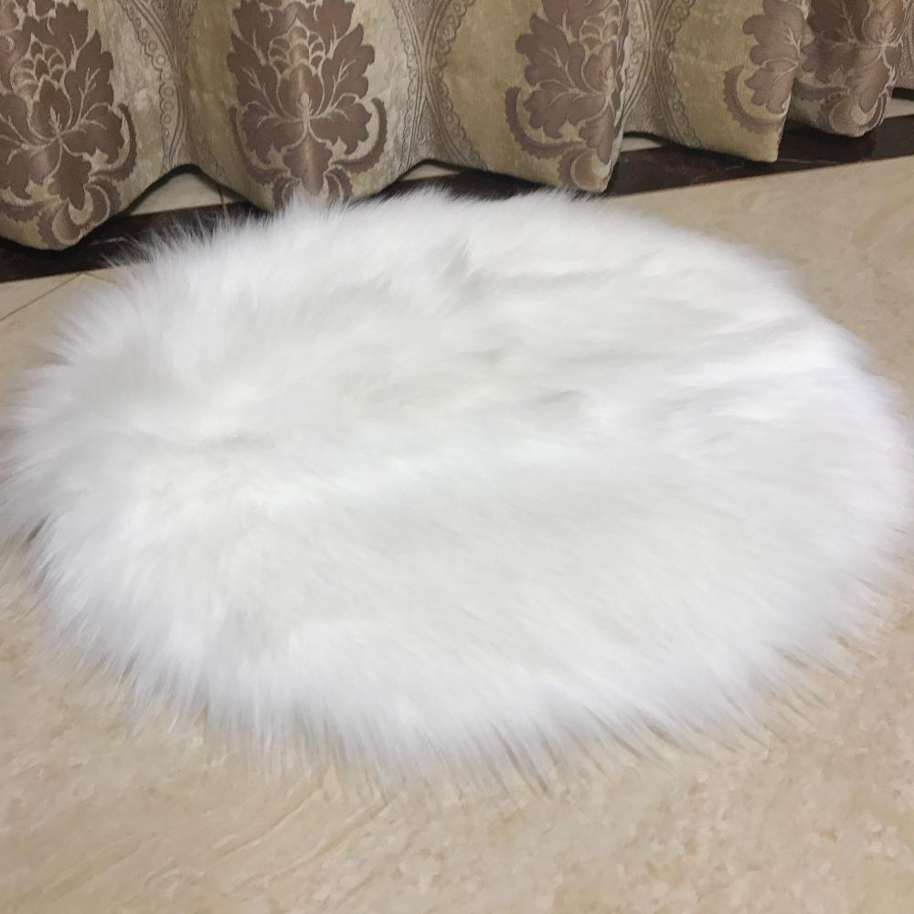 fur chair cover baby rocking walmart muzzi faux sheepskin seat pad soft carpet hairy plain skin fluffy area rugs bedroom commercial prices
