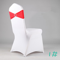 cheap white chair covers with desk attached uk wholesale amp sashes in home textiles buy 100 pcs dhl free shipping finished edge spandex lycra bands elastic sash buckle for wedding