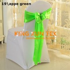 Fitted Chair Covers For Cheap Zebra Print Bean Bag Wholesale Buy 2019 Online Hot Sale Satin Sash Bow Fit On Banquet