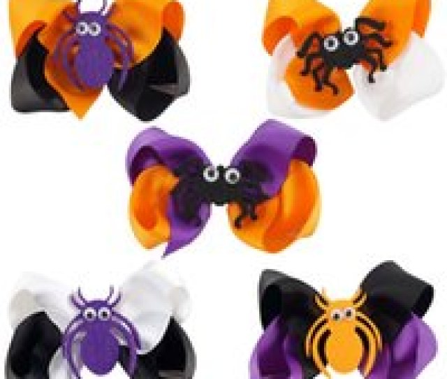 Photos Wholesale Halloween Gifts For Toddlers Online  Inch Boutique Halloween Hair Bows With Spider For