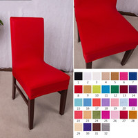 cotton wedding chair covers to buy lowe s canada outdoor lounge chairs wholesale cheap for sale office solid colors elastic force seat