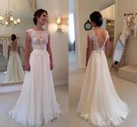 Wo Kann Man Elfenbein Chiffon Brautkleider Online Kaufen? Wo Kann