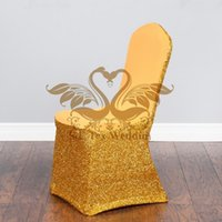 spandex chair covers canada best posture work gold banquet selling shiny sequin fabric stretch cover for wedding