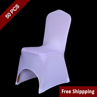 wholesale folding chair covers for sale art deco kitchen chairs white polyester buy cheap 50pc spandex wedding