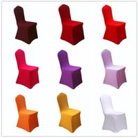 spandex chair covers for folding chairs luxury dining australia wholesale buy cheap sale 7 yh solid color thicker elastic