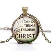Christliche Zitate Anhanger Halskette Jesus Christus Glas Cabonchon Handgemachte Charme Wohl Bekannte Spruche Inspirierende Sprache Ostern