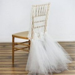 Chiavari Chair Covers Ebay American Girl Doll High Wholesale Wedding Sashes Buy Cheap 2019 For Sale Romantic Lace Cover With Tulle Ruffles Groom