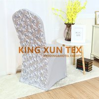 bulk satin chair covers wicker chairs and coffee table wholesale rosette buy cheap 2019 for sale new design d lycra spandex cover