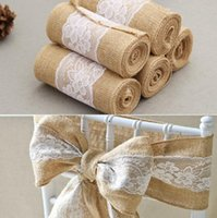 burlap chair covers for sale building a wholesale buy cheap 2019 wedding back sashes lace sash streamer