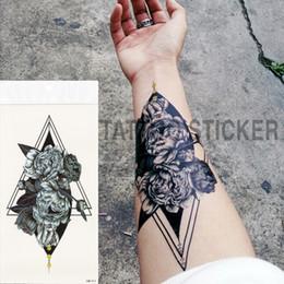 Distribuidores De Descuento Flor Tatuajes Hombres Brazo Flor