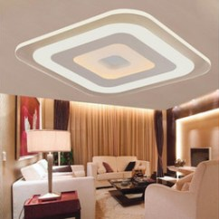 Ceiling Designs For Small Living Room 2016 What To Put On A Shelf In The Discount Decorative Creative Design Ultrathin Led Light Square Acrylic Lamp Double Color Indoor Lights Livingroom Kitchen Moderne Lamps
