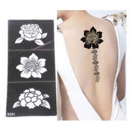 Distribuidores De Descuento Plantillas Tatuaje Henna Plantillas De