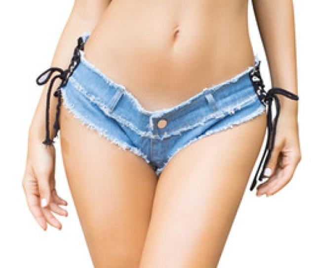 Chinese Sexy Nightclub Girls Low Waist Denim Thong Shorts Micro Mini Jeans Shorts Femme Womens Disco