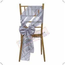 silver chair covers uk target eddie bauer high shop wedding wholesales price free shipping pintuck taffeta bands