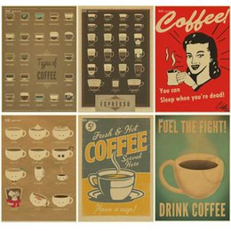 vintage posters for kitchen reface old cabinets discount 2019 on coffee espresso matching diagram poster retro kraft paper cafe