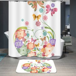 Discount Kitchen Curtains White Porcelain Sink Designs Window Printing 5 Waterproof Colorful Cartoon Bathroom Accessories Curtain For Living