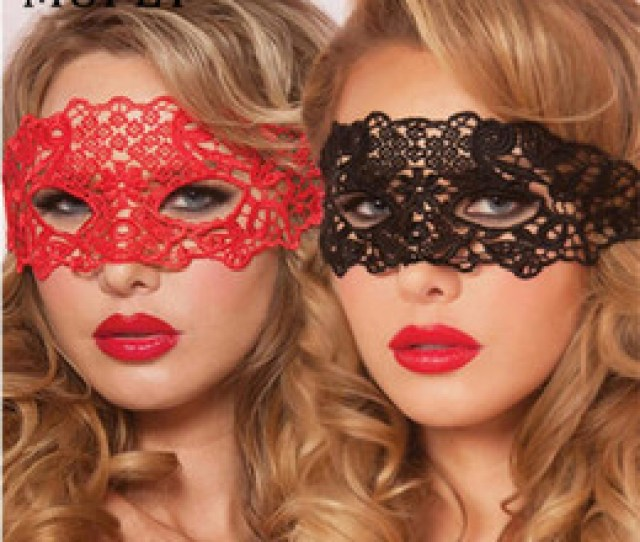 Sexy Babydoll Porn Lingerie Sexy Black White Red Hollow Lace Mask Erotic Costumes Women Sexy Lingerie Hot Cosplay Party Masks C19010801 Porn Cosplay