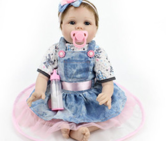 Discount Lucy Doll Shipping Dhl Cm Baby Girl Doll Toy Doll Simulation Soft Denim Skirt