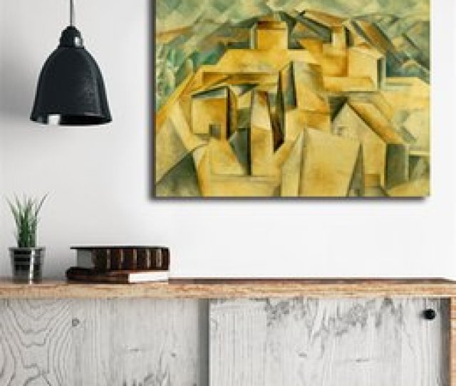 House On The Hill By Pablo Picasso Wall Art Canvas Posters Prints Painting Wall Pictures For Office Bedroom Home Decor Artwork