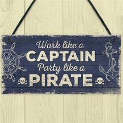 Kitchen Plaques Stainless Steel Carts Online Shopping Wall For Sale Funny Nautical Sign Captain Pirate Bar Pub Man Cave Plaque Party Friendship Gift Men