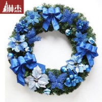 Discount Blue Christmas Wreath Decorations | 2017 Blue ...