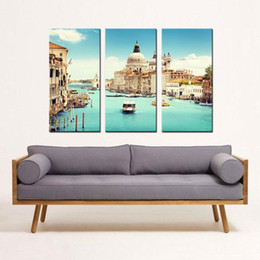 wall art sets for living room seating arrangements ideas shop set three landscape uk spirit up huge home decorations italy venice canvas print modern painting on