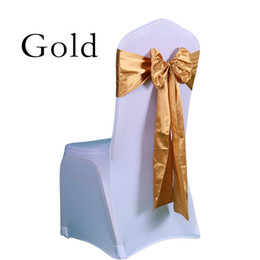 spandex chair covers canada pressed back oak rocking chairs fabric for best selling 25pc free shipping wedding decoration bow satin sashes