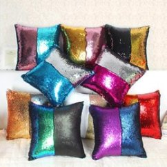 Sequin Chair Covers Uk X Rocker Gaming Walmart Shop Glitter Free Delivery To Bz170 Double Color Sequins Cushion Cover Sofa Pillowcase Cafe Home Textiles Decor Throw Pillows Seat